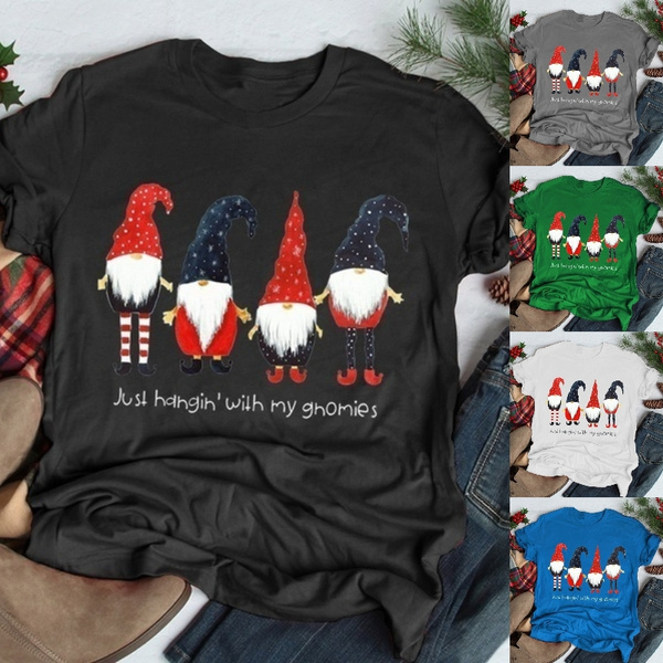 Plus Size, Shirt, Santa Claus, topsamptshirt