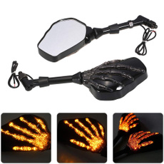 motorcycleaccessorie, ghost, sidemirror, ledturnsignal
