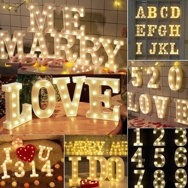 partyletterlight, numberledlight, weddingpartydecor, led