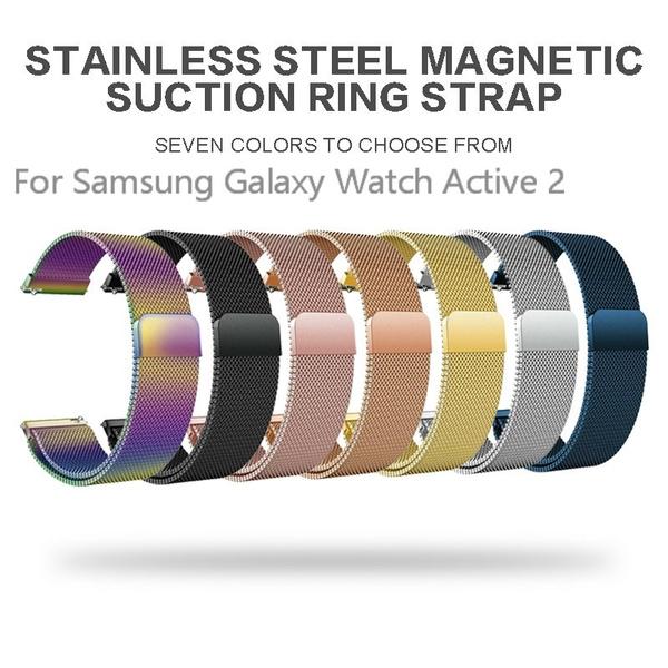Steel, magneticwatchstrap, samsunggalaxywatchactivestrap, Samsung