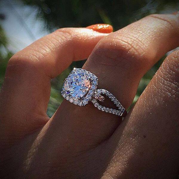 Sterling, Princess, wedding ring, 925 silver rings