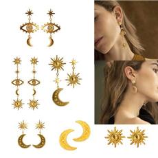 golden, Fashion, Star, Stud Earring