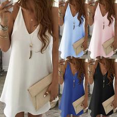 Summer, Plus Size, Cotton, Mini