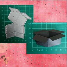 Box, stencilstemplate, craftscrapbooking, papercutting