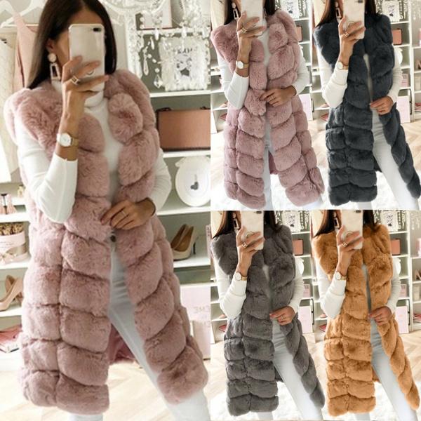 Women Vest, Fleece, womenovercoat, Winter