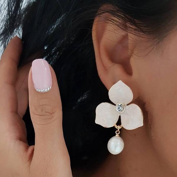 charmearring, Fashion, simpleearring, Pearl Earrings
