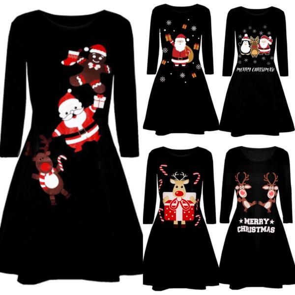 cute, Plus Size, women dresses, Long Sleeve