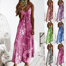 Summer, Vest, Fashion, long dress