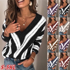 Plus Size, Necks, Sleeve, pullover sweater