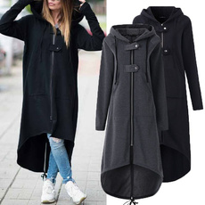 hooded, diphem, Sleeve, asymmetric