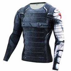 Shirt, wintersoldier, Fitness, Long Sleeve
