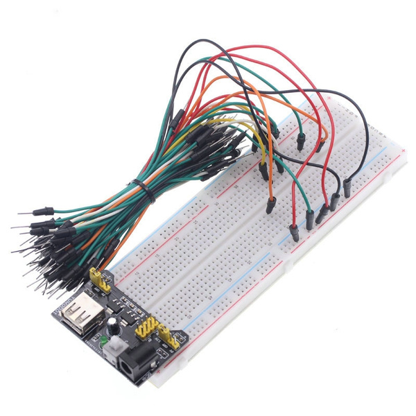 dupontcable, powers, mb102, breadboardboard830point