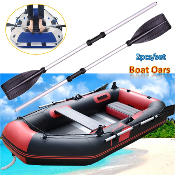 2pcs Detachable Aluminum Alloy Kayak Paddles Outdoor Inflatable Boat Oars