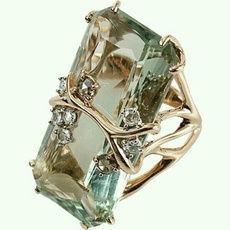 yellow gold, Fashion, wedding ring, 925 silver rings