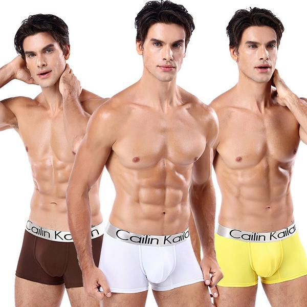 Cailin Kailan Brands Men's Boxer Underwear Men's Trunks Men's Boxer Briefs  Underwear Low Waist U-convex Pouch Mens Underwear | Wish