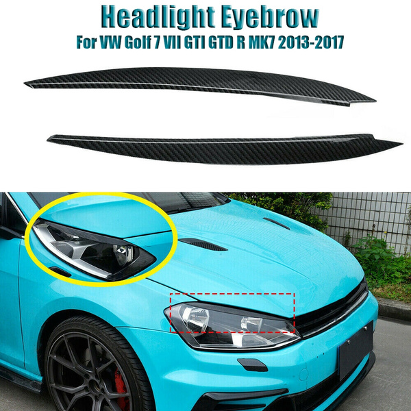 Trim, headlighteyebrowforvw, Fiber, Golf