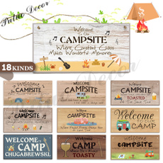 campingsign, woodenplaque, hangingplaque, camping