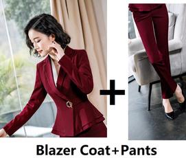 Plus Size, Office, pants, suitsampblazer