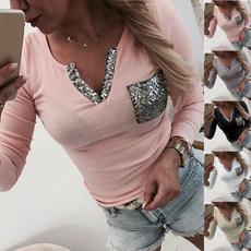 blouse, Autumn, Slim T-shirt, Sleeve