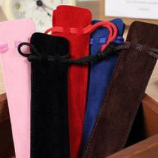 case, pencilcase, pencase, velvet