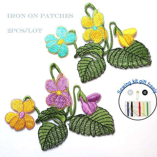 Flowers, Iron, patchesforclothe, embroiderypatche