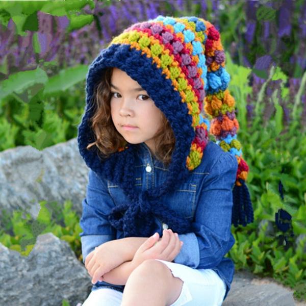 rainbow, Fashion, Winter, woolcap