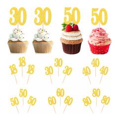 Glitter, Jewelry, 30thbirthday, number50cupcaketopper