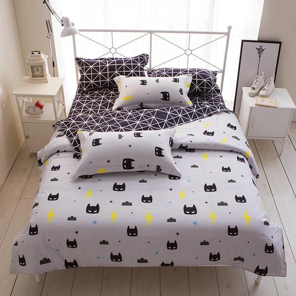 Quilt Cover Pillowcase Twin Queen King, Batman Queen Bedding