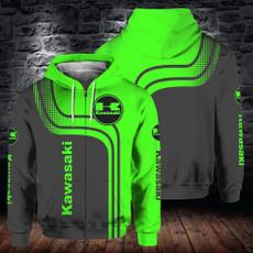 kawasaki3dclothing, 3dsporthoodie, pullover hoodie, kawasakimotorcyclesweatshirt
