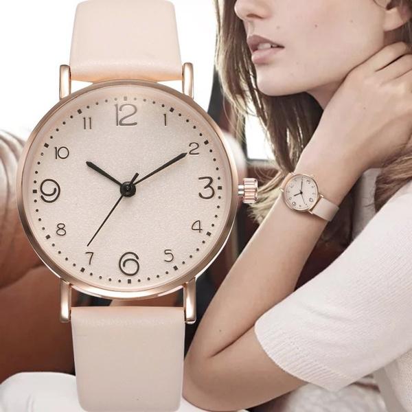 Fashion, womenfashionwatch, leather strap, Simple