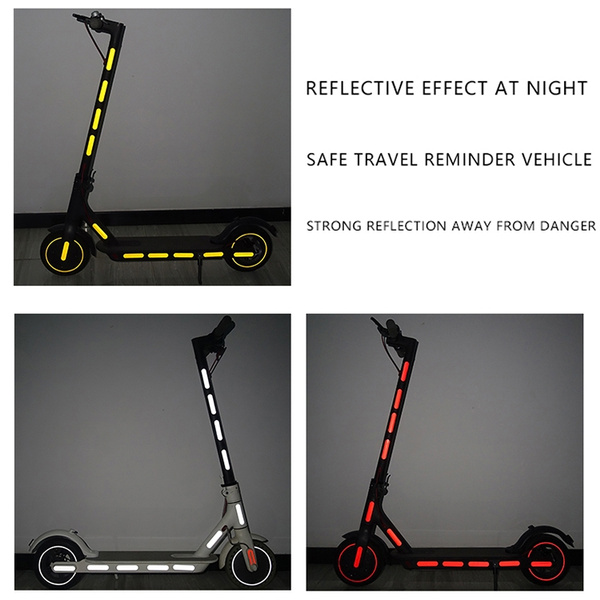 Wheel Reflective Stickers Hub Universal Scooter Waterproof Front Decal