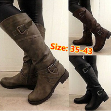 Knee High, Plus Size, Platform Shoes, Women's Fashion