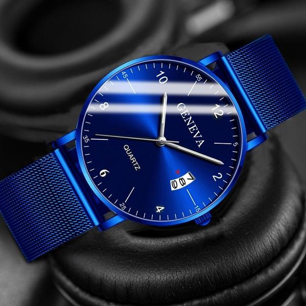 Chronograph, Steel, quartz, business watch