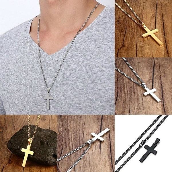 Steel, Chain Necklace, Stainless Steel, Christian