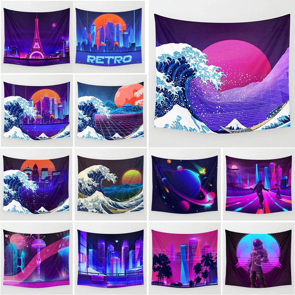vaporwave, neonspacetapestry, neoncity, Sofas