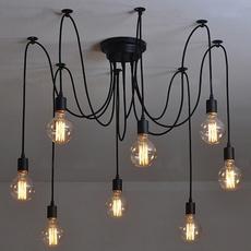 Chandelier, pendantlight, edisonbulb, Home Decor
