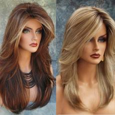 wig, brown, straightwig, Long wig