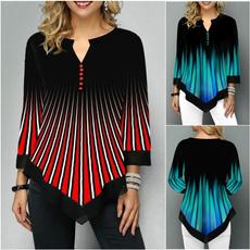 blouse, gradualcolor, Sleeve, Autumn Shirts