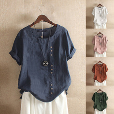 blouse, Summer, Cotton T Shirt, Shorts