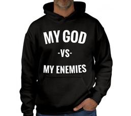 faithhoodedsweatshirt, letter print, pulloverhoody, Fleece Hoodie