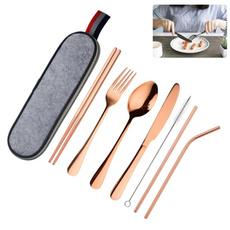 Forks, case, stainlesssteelcutlery, servingspoon