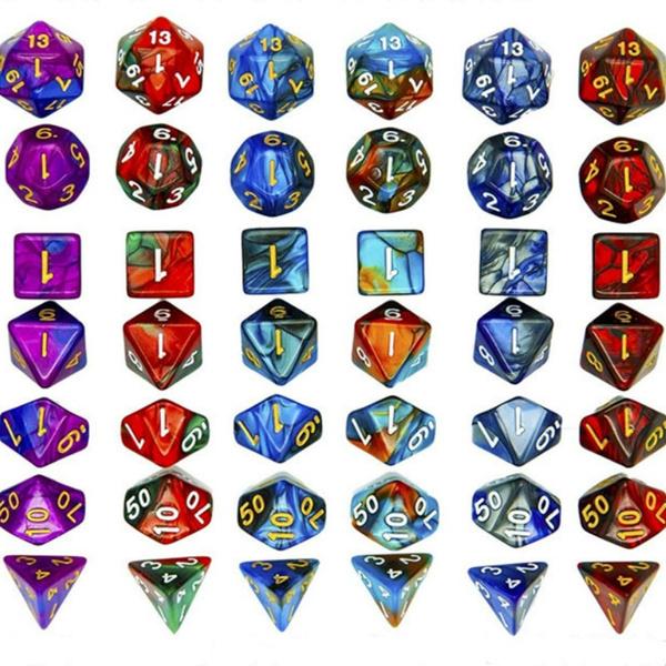 gallopingdominoe, coloreddice, Dice, polyhedraldice