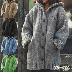 hooded, sweaters for women, sweater coat, Long Sleeve