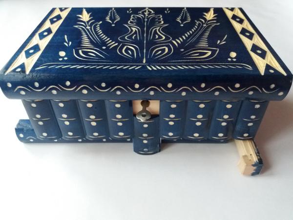Storage Box, Blues, jewelry box, Magic