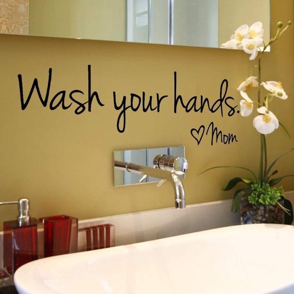 Bathroom Accessories, bathroomsticker, warningword, art