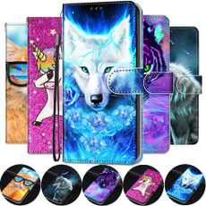 xiaomiredminote8procase, huaweipsmart2019case, Animal, leather wallet