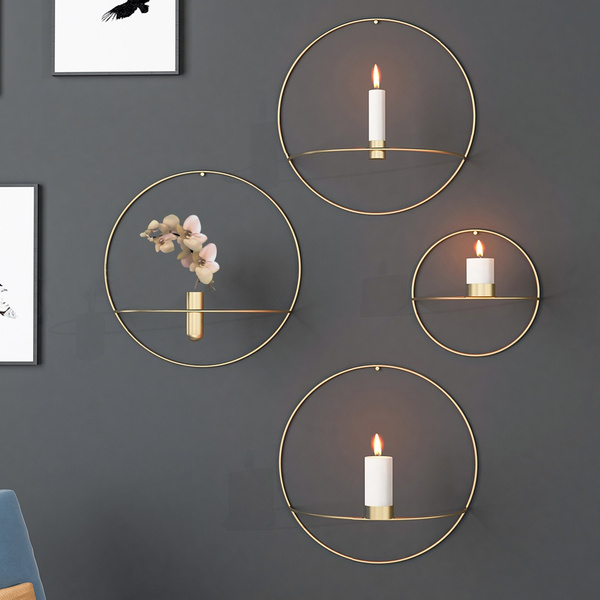 Candleholders, roundcandleholder, Home & Living, Metal