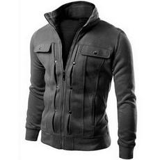 Polyester, zippermensjacket, Plain class, Sleeve