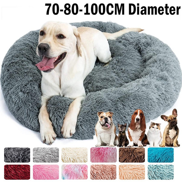 large dog bed, kennelmat, donutdogbed, rounddogbed