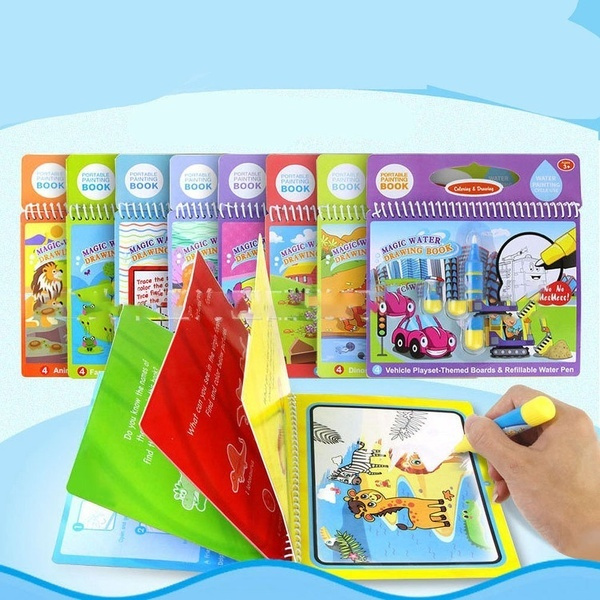 reusewaterpaint, Colorful, watercolouringbook, Educational Toy